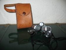 Vintage Comet Binoculars 6x15 Opera Sport Mini Glasses  w Leather Carry Case