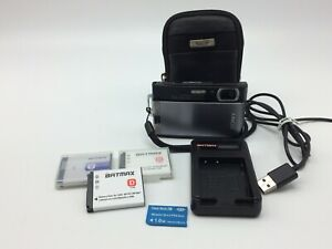 Sony Cyber-shot DSC-T300 10.1MP Digital Black Camera~w/ 3 Batteries~1GB Memory