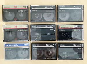 SONY Hi8 Video Kassetten ME, 9 Stück