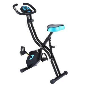 Klappbar LCD Fitnessbike Hometrainer Heimtrainer Home Fitness Fahrrad 120kg DHL
