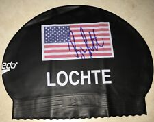 Ryan Lochte Signed Autograph Team USA Swim Cap Swimmer Olympic Gold Medalist