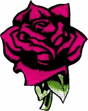 43049 Pink Rose Flower Girly Cute Beauty Beast Embroidered Sew Iron On Patch NEW