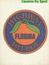 FANTASTICKER HIGHWAY PATROL FLORIDA 7,5 * 9,5 Cm 1980's STICKER FIGURINE PANINI
