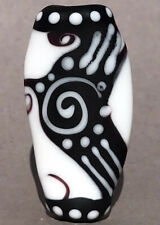 Handmade Lampwork Focal Bead ~ Black Knight ~ By Soul Of Glass SRA