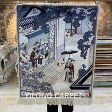 YILONG 2'x2.5' Sitting Room Tapestry Silk Carpet Ancient Villa Area Rug 084H