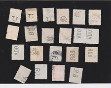 Romania-A selection of postally used stamps with security perfins
