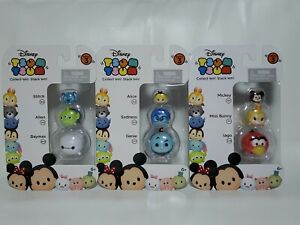 Disney Tsum Tsum Series 3 Vinyl Stackable Figures 3-Packs Lot of 3 NEW