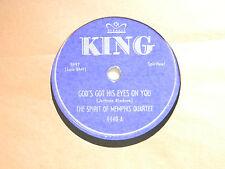 Spirit Of Memphis Qt. 78 DON'T TURN AROUND / GOD'S GOT HIS EYES ON YOU ~King VG-