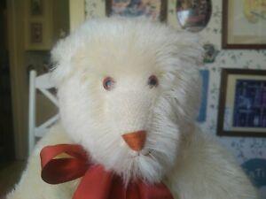 Large Cream string Mohair Canterbury Teddy bear for Gund 18in EUC