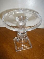 Longaberger 2007 Pressed Glass Pedestal Candle Stand