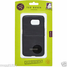 Original Ted Baker Samsung Galaxy S6 VI efecto cuero negro caso