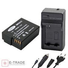 battery +CHARGER for Panasonic DMW-BLC12 E Lumix DM FZ200 BLC12 BLC12PP /1400mAh