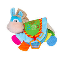 Crinkle Book Baby Toy Cute Donkey Nontoxic Fabric Baby Cloth Book Resist Tearing