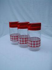 3 pots à condiments felix potin la parisienne plastique et verre des années 70