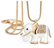 Auden Rhinestone Animal Design Long Pendant Chain Necklace