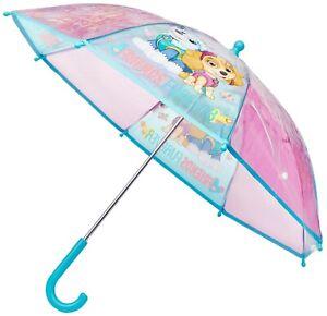 PAW Patrol Girls POE Embossed Children's Character Umbrella Dome Skye & Everest