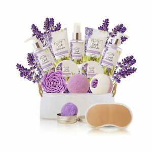 Spa Gift Baskets for Women Lavender Bath and Body At Home Spa Kit Mothers Day...