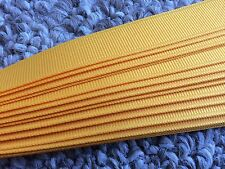 Grosgrain Hat Band Pony Tail Hair Band Craft Ribbon Pkg 25 Straight Edge - Gold