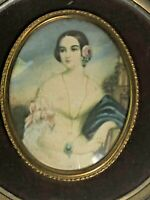 Vintage Isabella Montgomery Victorian Portrait Framed by George Romney See Pics!
