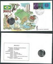 1991 VATICANO VIAGGI DEL PAPA BRASILE CON MONETA - SV2