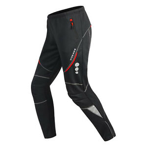 Men's Windbreaker Cycling Trousers Fleece Thermal MTB Bike Long Pants Winter