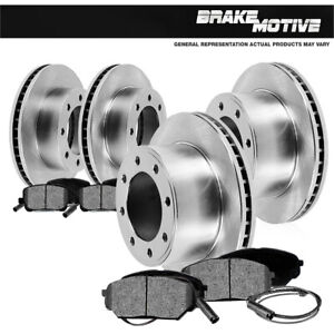 For 1999 Ford F250 F530 4X4 4WD Front And Rear Brake Disc Rotors & Metallic Pads