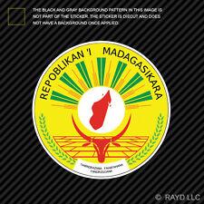 Malagasy Seal Sticker Decal Self Adhesive Vinyl Madagascar flag MDG MG
