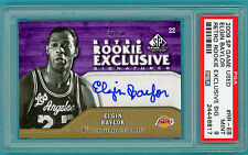 2009 SP Game Used Retro Rookie Elgin Baylor Auto Issue #RR-EB PSA 9 Lakers! POP1