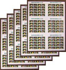 Scott #4697a 2012 Baseball All Stars IMPERF Se-tenant (LOT OF 5) PRESS SHEETS