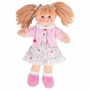 Bigjigs Toys Soft Plush Poppy Doll (28cm) Ragdoll Cuddly Toy