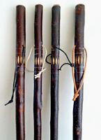 Rustic Wooden Walking Stick / Cane Hand Carved Chestnut Wood Stick 91 CM Stick