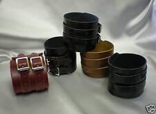 handgelenkmanschette-twin strap-echtleder-verschiedene farben