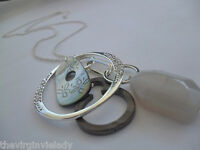 Virgin Vie 'OUT OF THIS WORLD' Long Necklace Silver Shell Bead