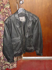 small leather bombers jacket  black