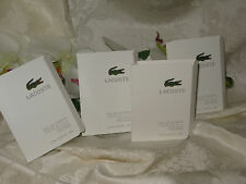 "Lacoste "" L.12.12 Blanc"" Men's Eau de Toilette Pour Homme. 0.06 fl oz. Lot of 4"
