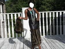Designer Custom Gray island Fox Fur skirt +free matching hat for coat  XS-S 0-4