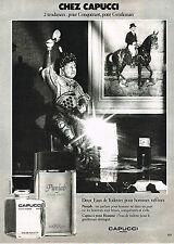 PUBLICITE ADVERTISING 034   1979   CAPUCCI  parfum PUNJAB  eau de toilette