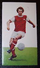 Arsenal Liam Brady superba anni 1970 CALCIATORE card in buonissima condizione