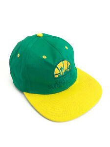 Seattle Supersonics Vintage NBA Snapback Cap Hat One Size