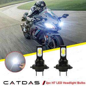2pcs H7 LED Headlight Bulbs 6000K For Kawasaki Ninja ZX10R ABS 2011-2020 ZX10RR
