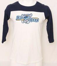 NEW Wilmington Blue Rocks 108 Stitches White 3/4 Sleeve Tee Shirt Men's M