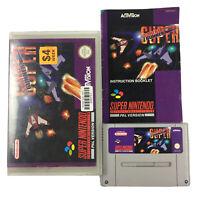 SUPER STRIKE GUNNER SNES Super Nintendo Game Cart and Manual in Rental Case PAL