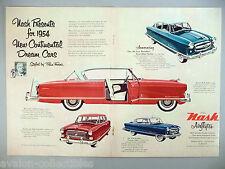 Nash Pinin Farina Airflyte Centerfold PRINT AD - 1953 ~~ 1954 models