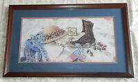 Vintage 1988 Glynda Turley Signed & No. Victorian Style Framed Print Picture