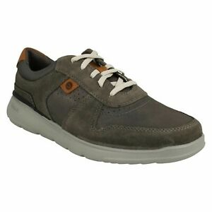 MENS CLARKS GASKILL VIBE TRAINERS LEATHER SPORTS LIGHTWEIGHT CASUAL SHOES SIZE