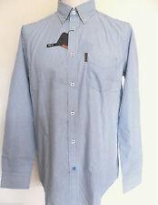 Ben Sherman Men's Cotton Blend Long Sleeve Striped Casual Shirts & Tops