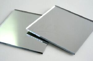 Silver Acrylic Mirror Perspex Sheet Plastic Material Panel A6 A5 A4 A3 & more!