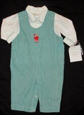 NWT Strasburg 3 M Mo Christmas Outfit Longall Holiday Baby Boy Set Romper Green