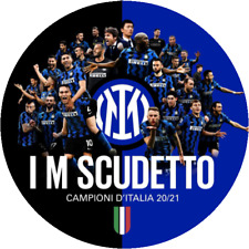 Coppia ADESIVO Stickers INTER SCUDETTO n. 19 2020/2021