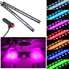 2PCS 12LED Pink Cigarette Lighter Car Auto Interior Floor Atmosphere Light Strip